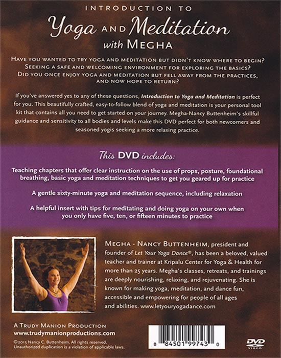 Intro To Yoga And Meditation Dvd Let Your Yoga Dance Store